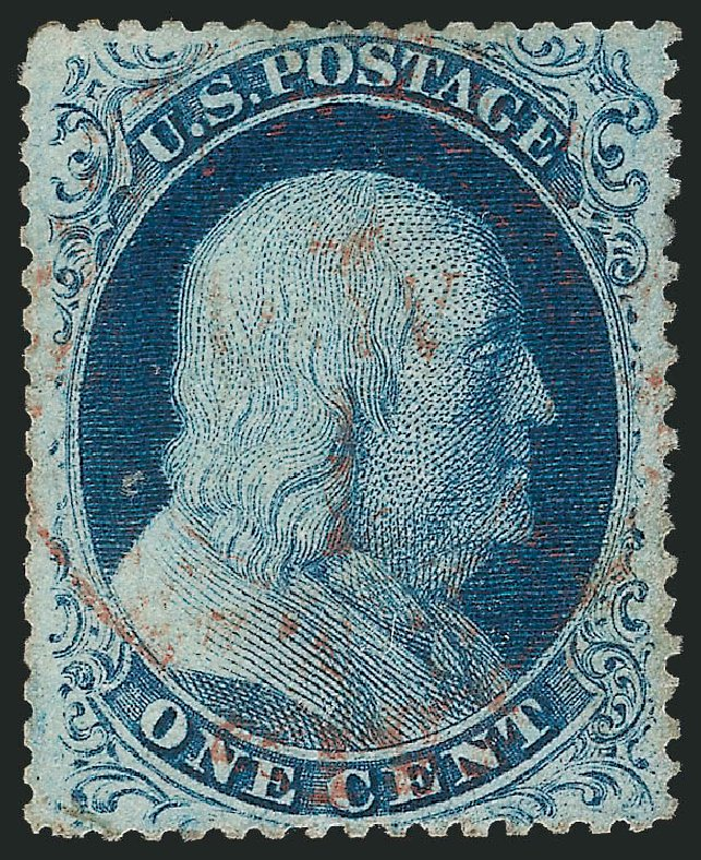 Cost Of Us Stamps Scott Catalogue 21 1857 1c Franklin