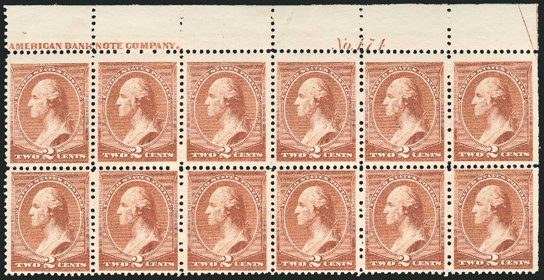 US Stamps Prices Scott Catalogue 210: 2c 1883 Washington. Robert Siegel Auction Galleries, Nov 2014, Sale 1084, Lot 3474