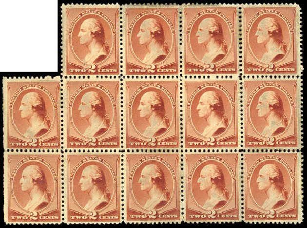 Price of US Stamps Scott Catalog # 210: 1883 2c Washington. Daniel Kelleher Auctions, May 2015, Sale 669, Lot 2685