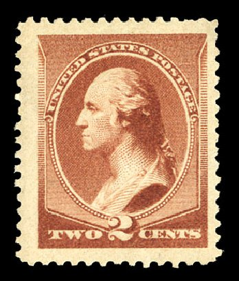 US Stamps Value Scott Catalogue 210: 1883 2c Washington. Cherrystone Auctions, Nov 2014, Sale 201411, Lot 32
