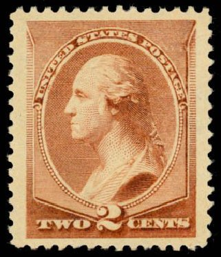 US Stamp Price Scott 210: 1883 2c Washington. Daniel Kelleher Auctions, May 2014, Sale 653, Lot 2142