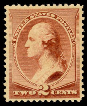 US Stamps Value Scott 210 - 1883 2c Washington. Daniel Kelleher Auctions, May 2015, Sale 669, Lot 2683