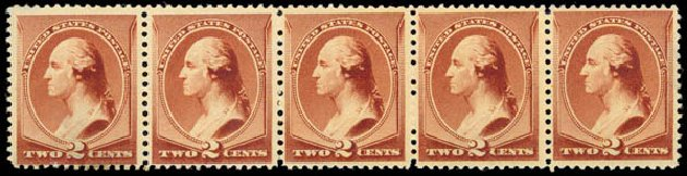 Cost of US Stamps Scott # 210 - 1883 2c Washington. Daniel Kelleher Auctions, May 2015, Sale 669, Lot 2686