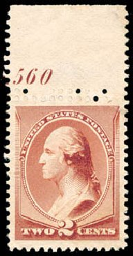 US Stamp Values Scott Catalog 210 - 1883 2c Washington. Schuyler J. Rumsey Philatelic Auctions, Apr 2015, Sale 60, Lot 2726