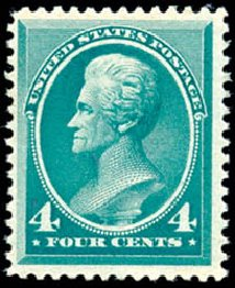Values of US Stamps Scott #211 - 1883 4c Jackson. Schuyler J. Rumsey Philatelic Auctions, Apr 2015, Sale 60, Lot 2188