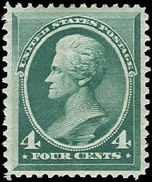 Values of US Stamps Scott # 211 - 4c 1883 Jackson. Regency-Superior, Nov 2014, Sale 108, Lot 389