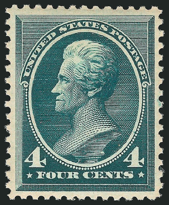 US Stamp Value Scott Catalog # 211: 1883 4c Jackson. Robert Siegel Auction Galleries, Apr 2015, Sale 1096, Lot 370