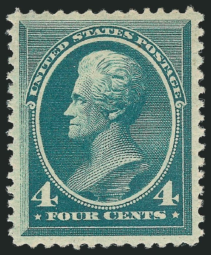 Values of US Stamps Scott Catalogue # 211: 1883 4c Jackson. Robert Siegel Auction Galleries, Dec 2014, Sale 1090, Lot 1364