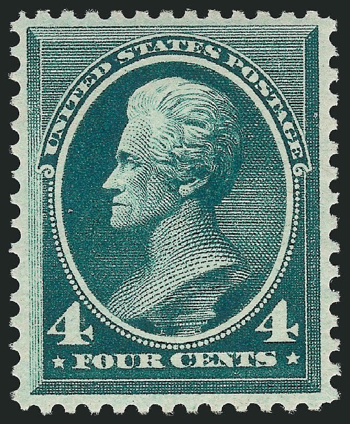 US Stamps Value Scott #211 - 1883 4c Jackson. Robert Siegel Auction Galleries, Feb 2015, Sale 1092, Lot 1146