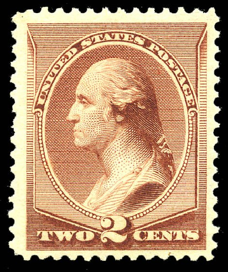 US Stamp Values Scott Cat. # 211B: 2c 1883 Washington Special Printing. Matthew Bennett International, May 2014, Sale 350, Lot 317