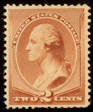 US Stamp Value Scott Catalog #211B: 2c 1883 Washington Special Printing. Daniel Kelleher Auctions, May 2015, Sale 669, Lot 2687