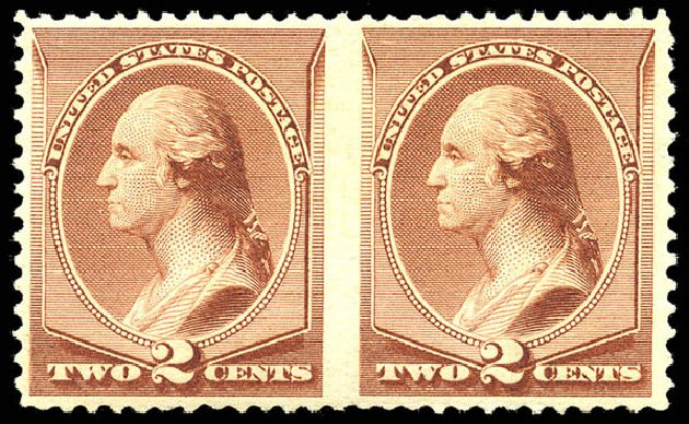 Cost of US Stamps Scott Catalogue # 211B - 2c 1883 Washington Special Printing. Matthew Bennett International, May 2014, Sale 350, Lot 318