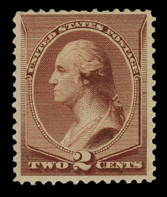 US Stamp Prices Scott Catalogue # 211B - 1883 2c Washington Special Printing. Cherrystone Auctions, Nov 2014, Sale 201411, Lot 34