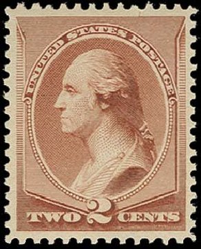 US Stamps Values Scott Catalog # 211B: 2c 1883 Washington Special Printing. H.R. Harmer, Oct 2014, Sale 3006, Lot 1232