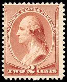 Values of US Stamps Scott # 211B - 1883 2c Washington Special Printing. Schuyler J. Rumsey Philatelic Auctions, Apr 2015, Sale 60, Lot 2192