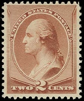 US Stamp Value Scott Catalogue # 211B: 2c 1883 Washington Special Printing. H.R. Harmer, Oct 2014, Sale 3006, Lot 1233