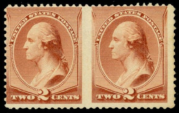 US Stamps Price Scott 211B - 2c 1883 Washington Special Printing. Daniel Kelleher Auctions, May 2014, Sale 652, Lot 316