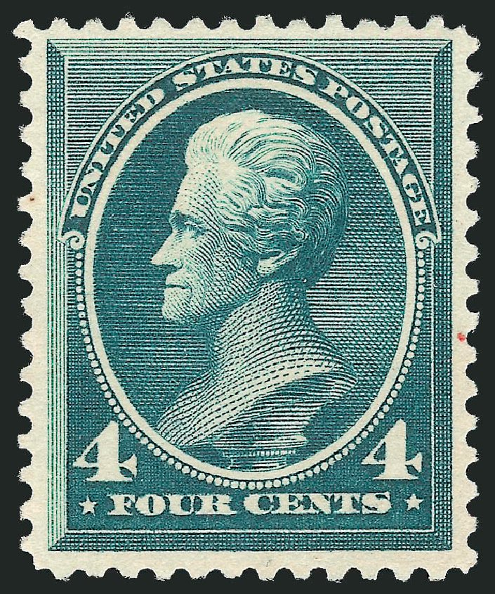 US Stamp Prices Scott Cat. # 211D: 1883 4c Jackson Special Printing. Robert Siegel Auction Galleries, Apr 2015, Sale 1096, Lot 357