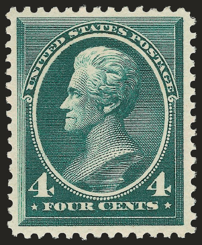 US Stamp Values Scott Catalog # 211D: 4c 1883 Jackson Special Printing. Robert Siegel Auction Galleries, Jun 2009, Sale 973, Lot 149