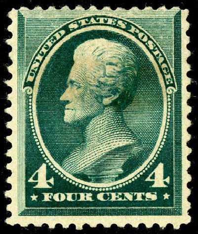 Value of US Stamps Scott Catalogue 211D: 4c 1883 Jackson Special Printing. Matthew Bennett International, May 2008, Sale 327, Lot 211