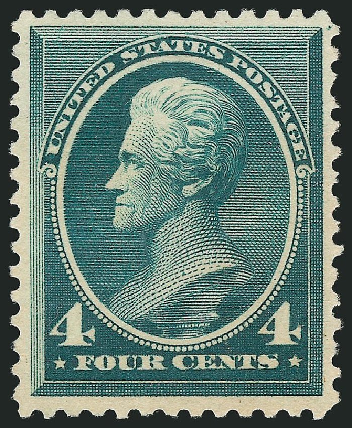 Values of US Stamps Scott Catalogue 211D: 1883 4c Jackson Special Printing. Robert Siegel Auction Galleries, Nov 2013, Sale 1057, Lot 791
