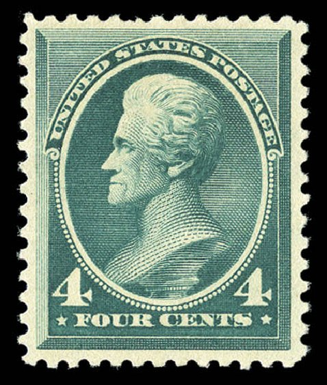 Cost of US Stamp Scott Cat. # 211D: 4c 1883 Jackson Special Printing. Matthew Bennett International, Sep 2012, Sale 345, Lot 243