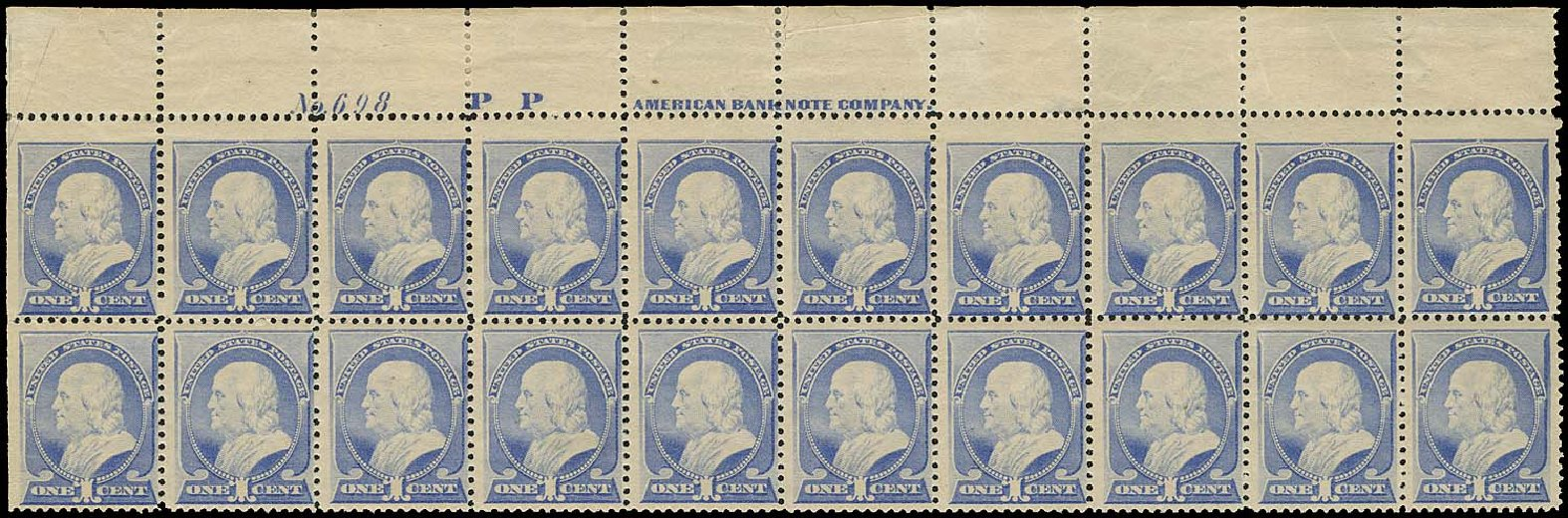 Values of US Stamps Scott # 212: 1c 1883 Franklin. Regency-Superior, Aug 2015, Sale 112, Lot 1277