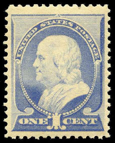 Cost of US Stamps Scott Cat. 212 - 1883 1c Franklin. Matthew Bennett International, May 2014, Sale 350, Lot 319