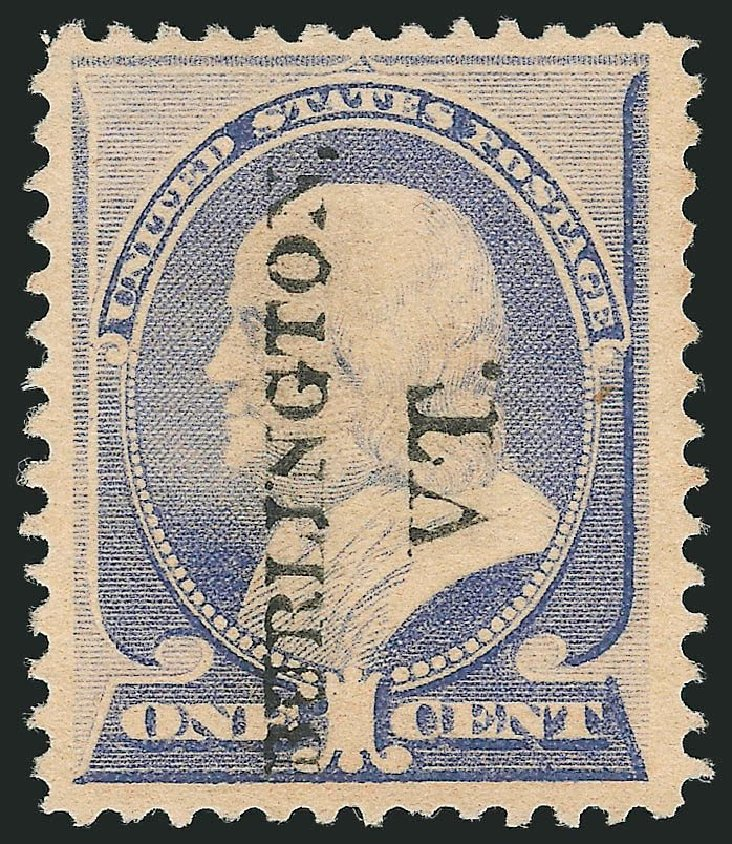 US Stamps Values Scott #212 - 1c 1883 Franklin. Robert Siegel Auction Galleries, Mar 2014, Sale 1067, Lot 1189