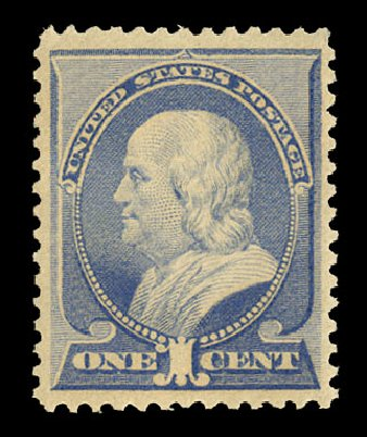 Price of US Stamp Scott Catalogue #212 - 1883 1c Franklin. Cherrystone Auctions, Nov 2014, Sale 201411, Lot 35