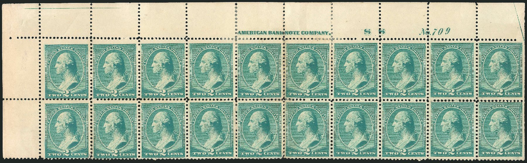 Value of US Stamp Scott Catalog # 213 - 1883 2c Washington. Robert Siegel Auction Galleries, Nov 2014, Sale 1084, Lot 3477