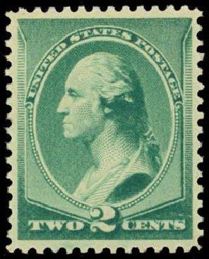 Costs of US Stamp Scott Catalogue #213: 2c 1883 Washington. Daniel Kelleher Auctions, Sep 2014, Sale 655, Lot 298