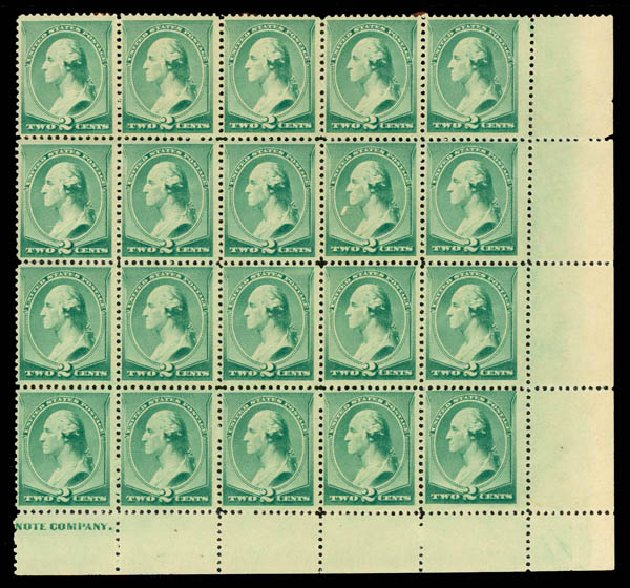 US Stamp Prices Scott Catalogue 213 - 1883 2c Washington. Daniel Kelleher Auctions, May 2015, Sale 669, Lot 2689