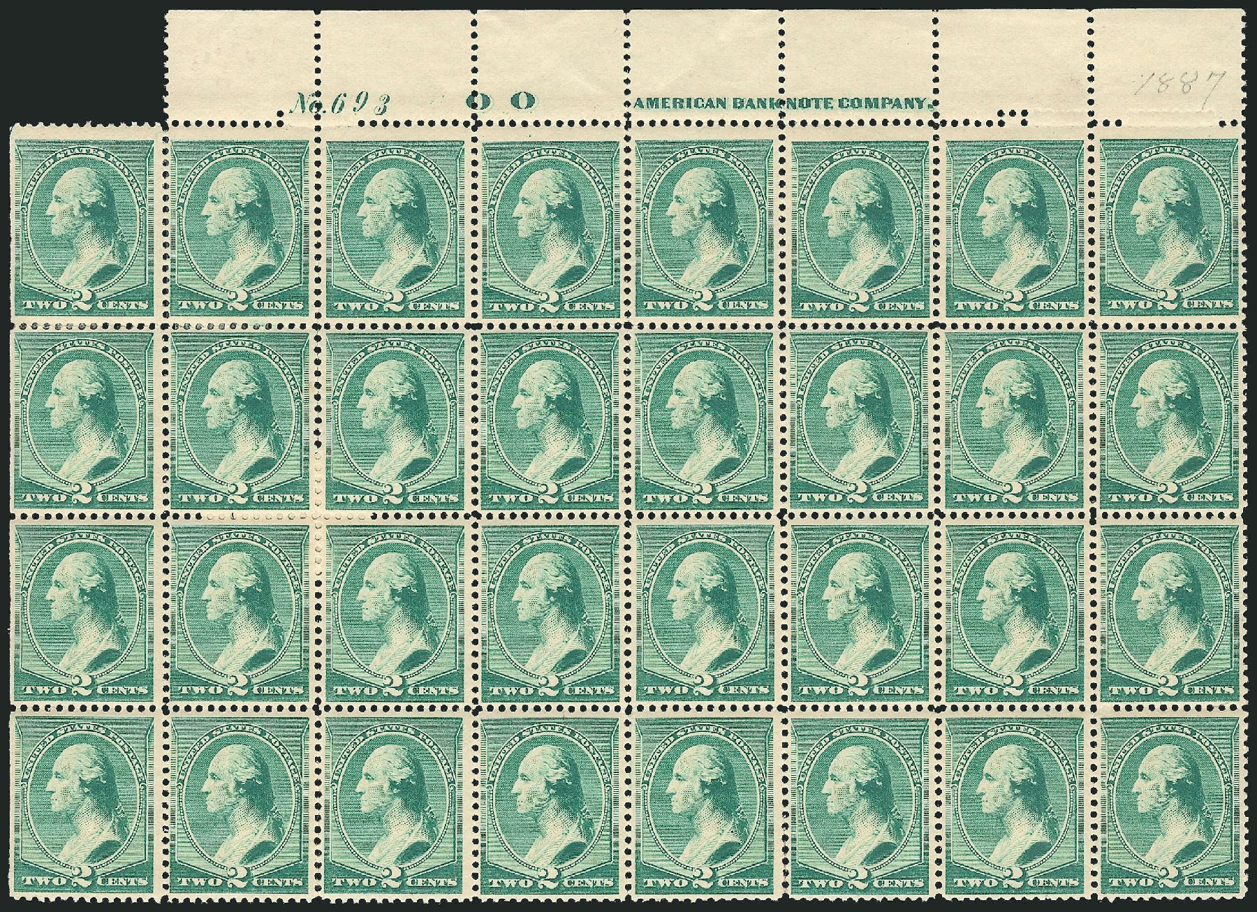 US Stamps Value Scott Catalog # 213: 2c 1883 Washington. Robert Siegel Auction Galleries, Mar 2014, Sale 1067, Lot 1190