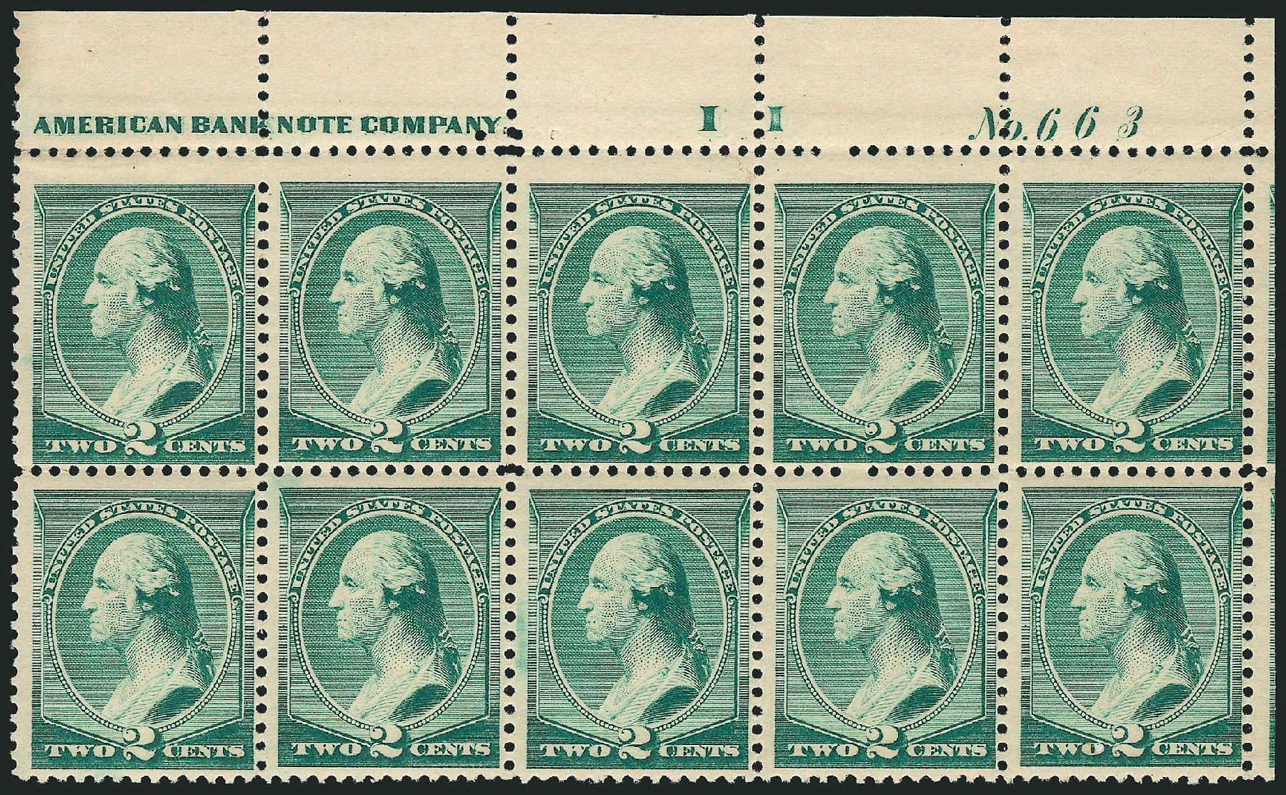 Values of US Stamp Scott #213 - 1883 2c Washington. Robert Siegel Auction Galleries, Feb 2015, Sale 1092, Lot 1150