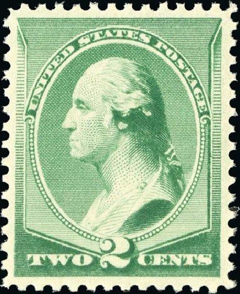 US Stamp Prices Scott Catalog 213: 1883 2c Washington. Spink Shreves Galleries, Jan 2015, Sale 150, Lot 110