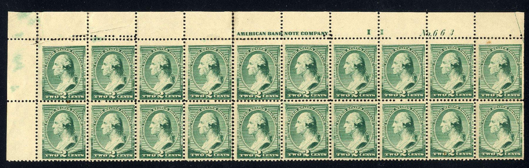 Price of US Stamps Scott 213 - 1883 2c Washington. Cherrystone Auctions, Nov 2013, Sale 201311, Lot 35