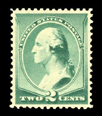 Value of US Stamp Scott Catalogue #213: 2c 1883 Washington. Cherrystone Auctions, Jul 2013, Sale 201307, Lot 62