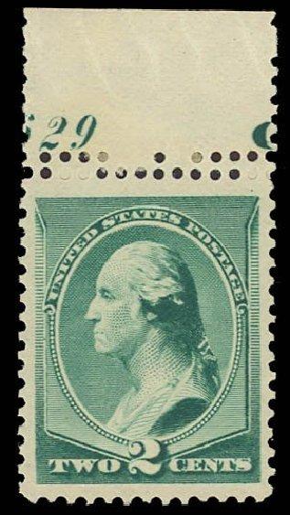 Costs of US Stamps Scott Catalog 213 - 1883 2c Washington. Daniel Kelleher Auctions, Dec 2013, Sale 640, Lot 173