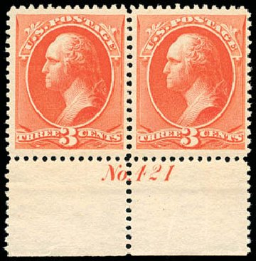 US Stamp Value Scott Catalogue # 214: 3c 1883 Washington. Schuyler J. Rumsey Philatelic Auctions, Apr 2015, Sale 60, Lot 2727