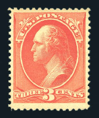 Values of US Stamps Scott Catalogue 214: 3c 1883 Washington. Harmer-Schau Auction Galleries, Aug 2015, Sale 106, Lot 1599