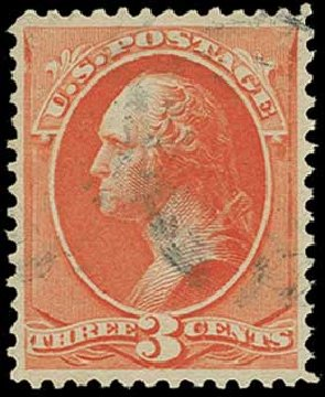 US Stamp Values Scott Catalogue 214 - 1883 3c Washington. H.R. Harmer, Jun 2015, Sale 3007, Lot 3229