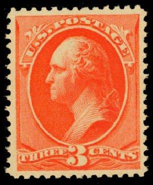 Cost of US Stamps Scott Catalogue 214 - 1883 3c Washington. Daniel Kelleher Auctions, Oct 2014, Sale 660, Lot 2189