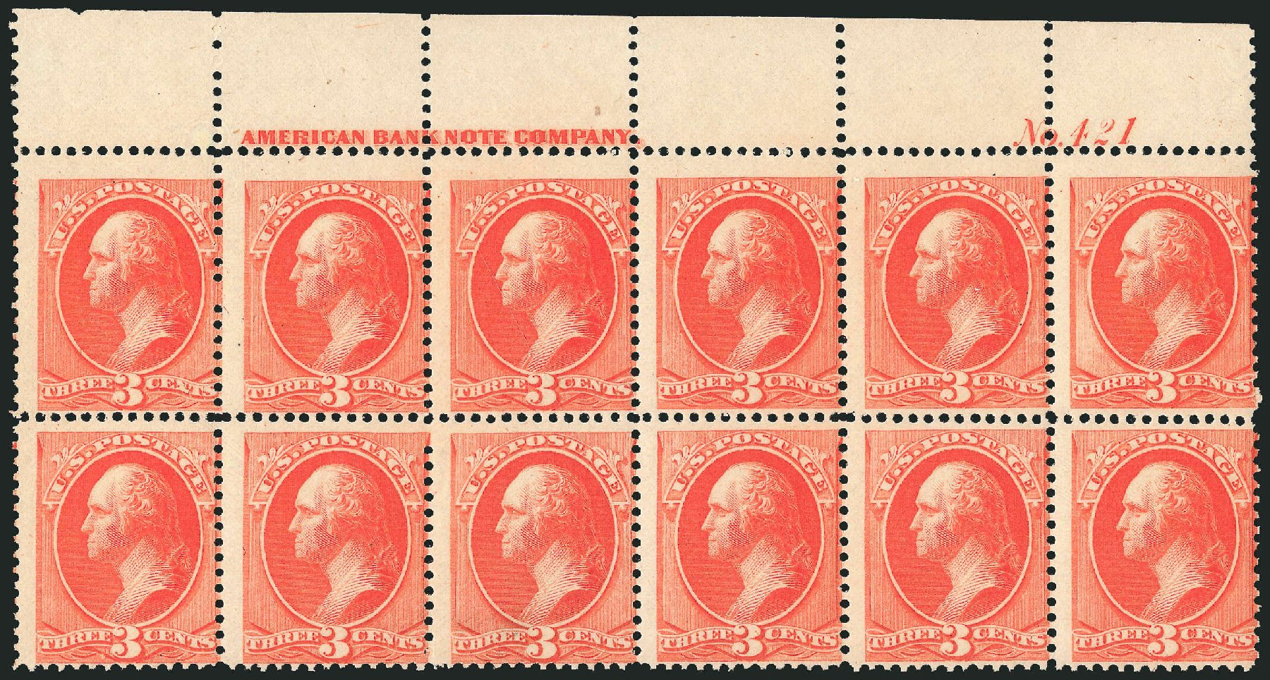 US Stamp Value Scott Catalogue # 214: 1883 3c Washington. Robert Siegel Auction Galleries, Nov 2014, Sale 1084, Lot 3479
