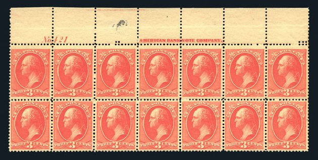 Prices of US Stamp Scott Cat. 214 - 3c 1883 Washington. Harmer-Schau Auction Galleries, Aug 2015, Sale 106, Lot 1600