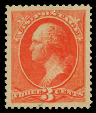 Prices of US Stamp Scott Catalogue #214: 1883 3c Washington. Daniel Kelleher Auctions, Jan 2015, Sale 663, Lot 1430