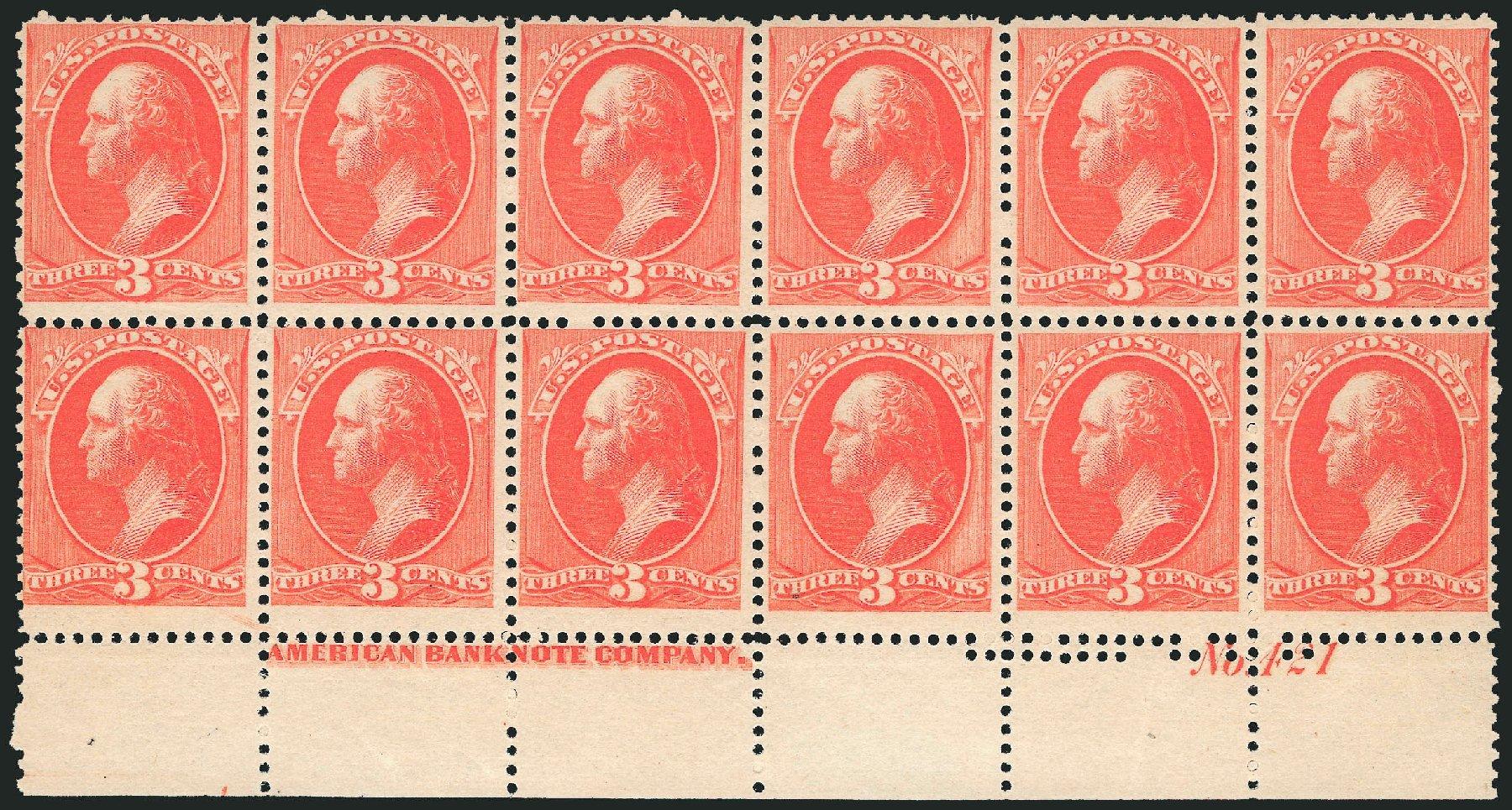 Values of US Stamps Scott Cat. # 214: 1883 3c Washington. Robert Siegel Auction Galleries, Nov 2013, Sale 1061, Lot 3640