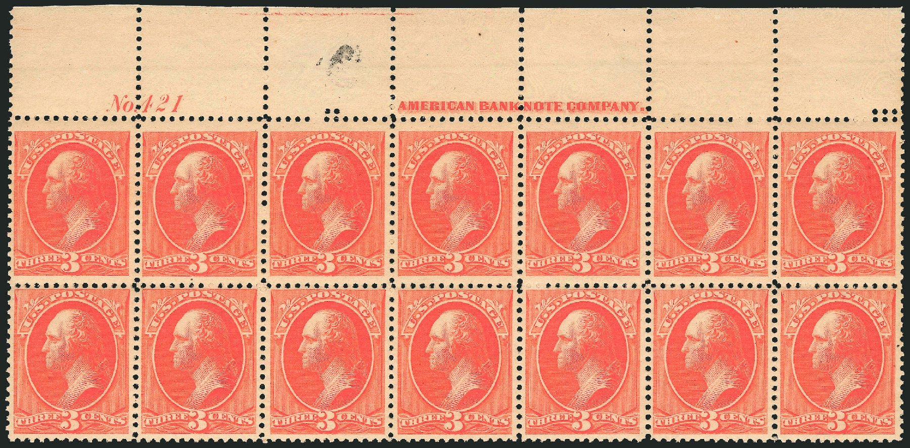 US Stamp Value Scott # 214 - 1883 3c Washington. Robert Siegel Auction Galleries, Nov 2014, Sale 1084, Lot 3480