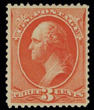 US Stamps Values Scott Cat. 214: 1883 3c Washington. H.R. Harmer, May 2014, Sale 3005, Lot 1151