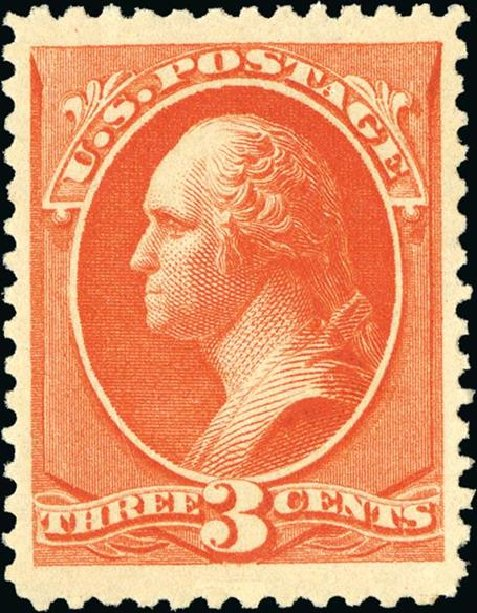 Values of US Stamp Scott Catalog 214 - 3c 1883 Washington. Spink Shreves Galleries, Jan 2015, Sale 150, Lot 111